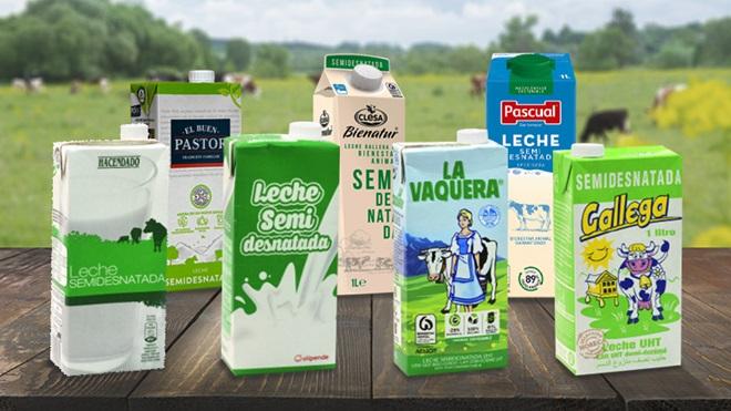 análisis leche semidesnatada