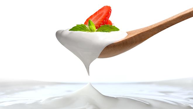 yogur con fresa