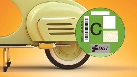 etiquetas motos medioambiental