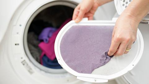 limpia el filtro de tu secadora