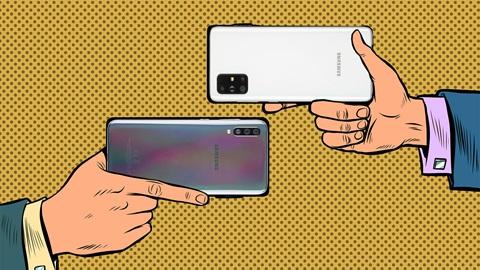 duelo Samsung A51 versus A71