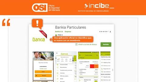 Alerta de App fraudulenta de Bankia