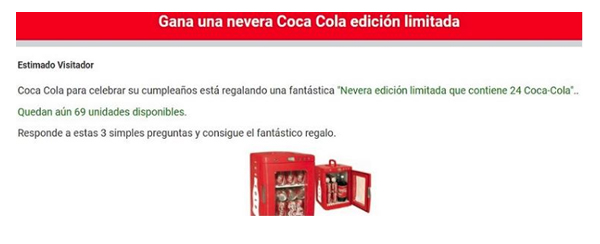 Bulo nevera Coca Cola