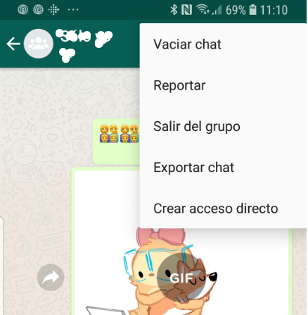 Chat destacado WhatsApp