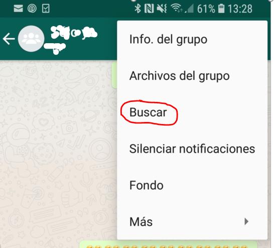Trucos buscar WhatsApp