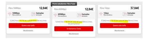 Tarifas ilimitadas Vodafone