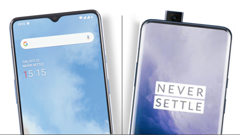 OnePlus 7T y 7T Pro frontales