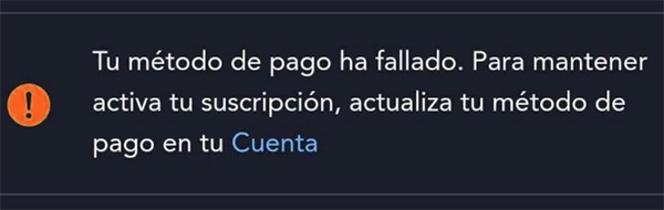 error pago disney +