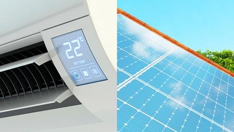 Aire acondicionado con energía solar