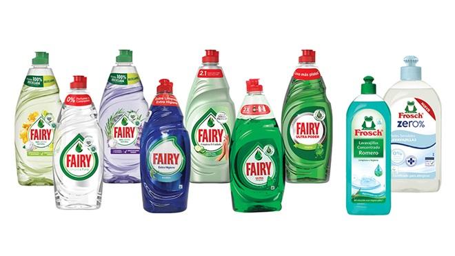 Fairy y Frosch lavavajillas a mano
