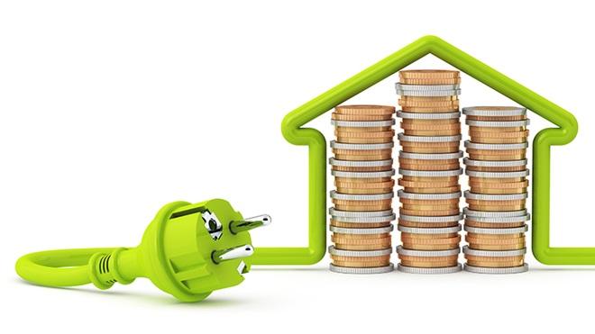 precio-de-la-luz-casa-cable-con-monedas