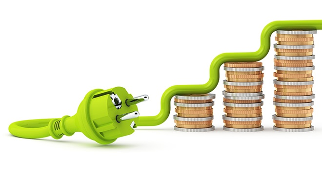 factura-electrica-enchufe-y-monedas