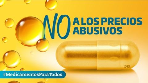 No a los precios abusivos de medicamentos