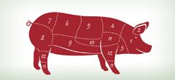 partes carne cerdo