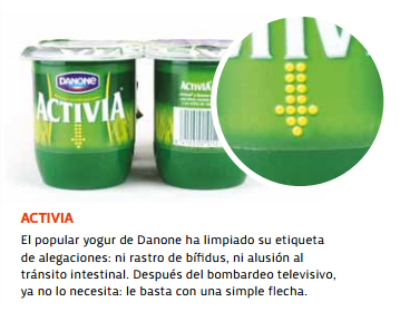 yogures etiquetas