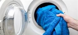 Toalla en lavadora