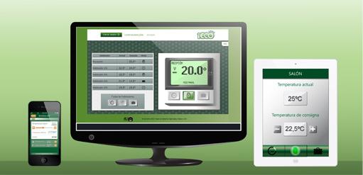 control remoto permite el máximo ahorro