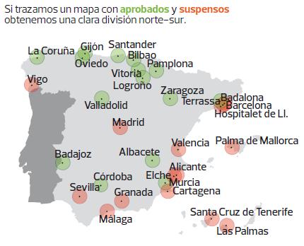 Quince ciudades espa olas suspenden en calidad de vida - Ciudades con mejor calidad de vida en espana ...